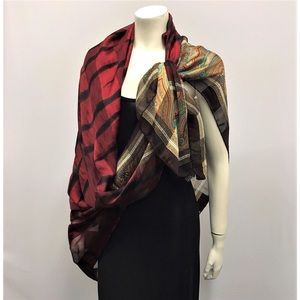Vintage Valentino Jumbo Silk Sheer Wrap Scarf